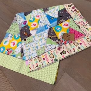 Handmade Snuggle Flannel Patchwork Baby Blanket